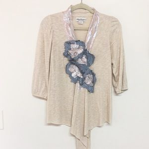 Anthropologie Helene Florence morning mist top